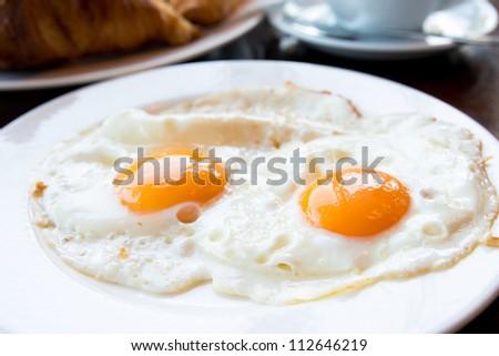 Prepared Egg - prepared egg under the sun - stock photo