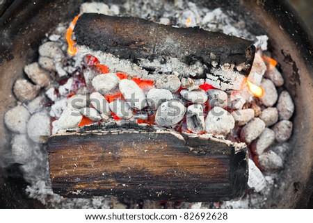 Preparing barbecue - stock photo