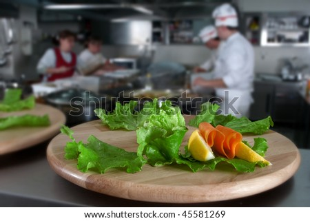 Preparing catering food - stock photo