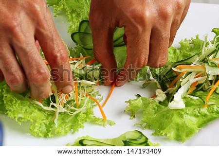 preparing food - stock photo