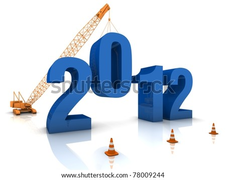 Preparing for 2012 - stock photo