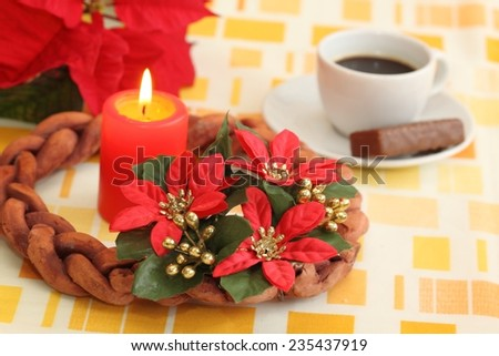 Preparing for making advent  - stock photo
