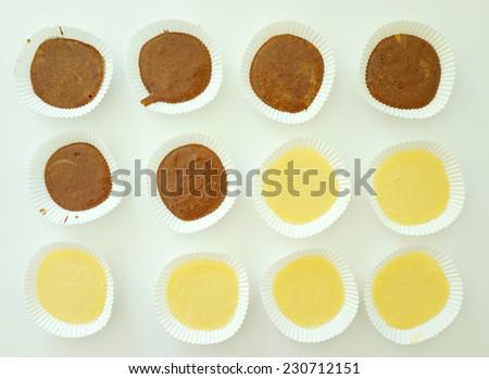 Preparing homemade cake - stock photo