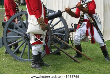 Preparing to Fire--Revolutionary War Reenactment