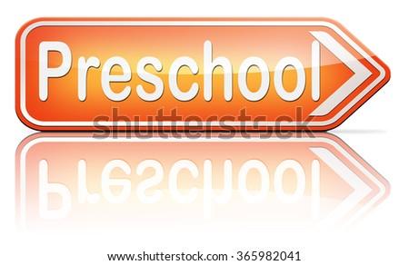 preschool education kindergarten nursery school or playgroup  - stock photo