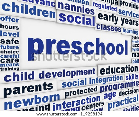 Preschool Message Background Child Education Poster Stock ...