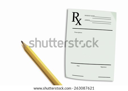 Prescription - stock photo