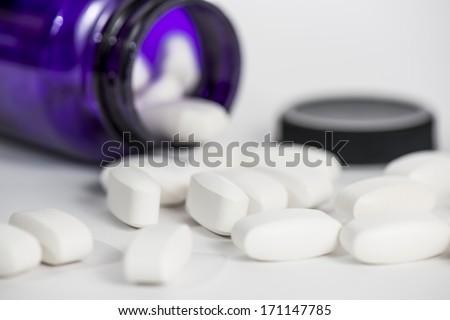 Prescription Medicine Bottle - stock photo