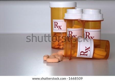 Prescription Medicine Pill Bottle - stock photo