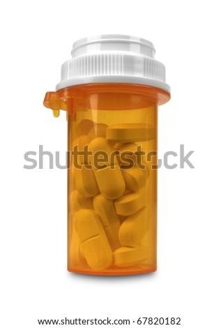 Prescription Medicine with Path - stock photo
