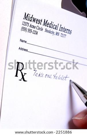 Prescription Pad with DOF - stock photo