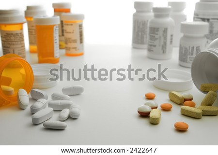 Prescription vs. Over the Counter - stock photo