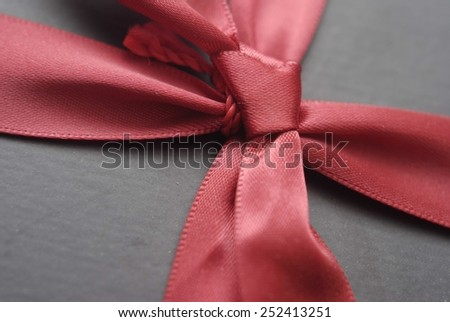 present and ribbon - stock photo