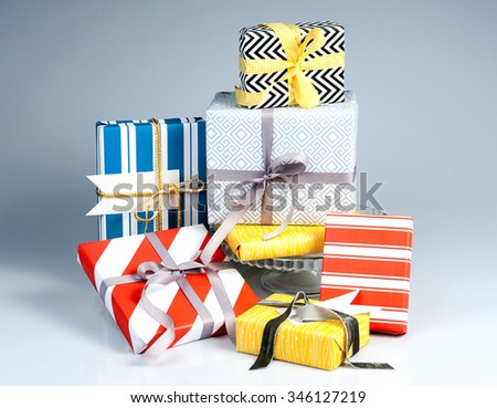Present Boxes. Christmas Gifts