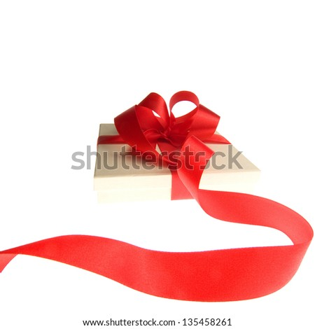 Present isolated on white - stock photo