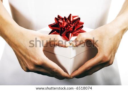 Present with love - stock photo