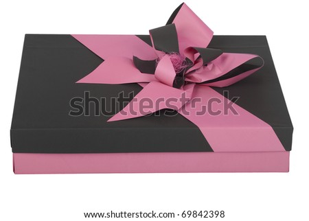 Present with pink ribbon