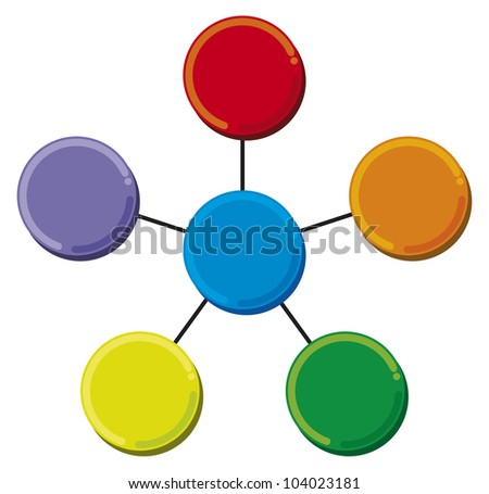 presentation diagram (business process, marketing) - stock photo
