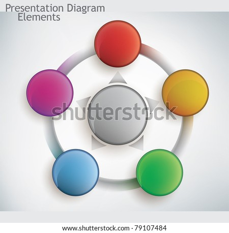 presentation diagram elements - stock photo