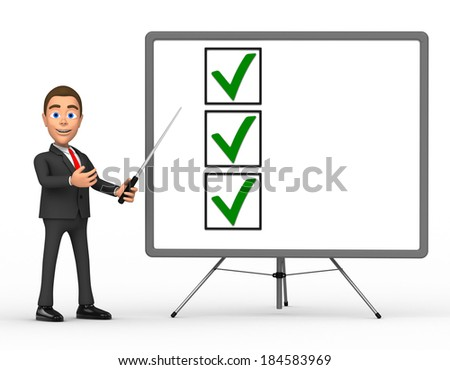 presentation of a successful businessman - stock photo
