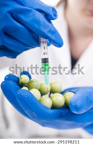 Presentation of the laboratory stage to the practice of the omg - stock photo