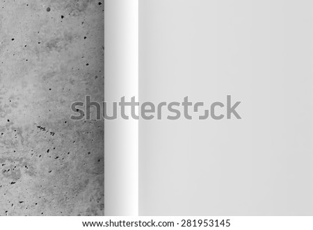 Presentation paper concrete slide 3d - stock photo