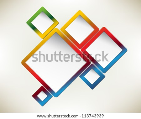 Presentation slide template editable at your choosing with your words. Abstract design draft proposal. Business background. Slide concept. - stock photo