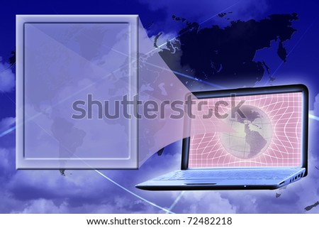 presentation: virtual screen shown from laptop