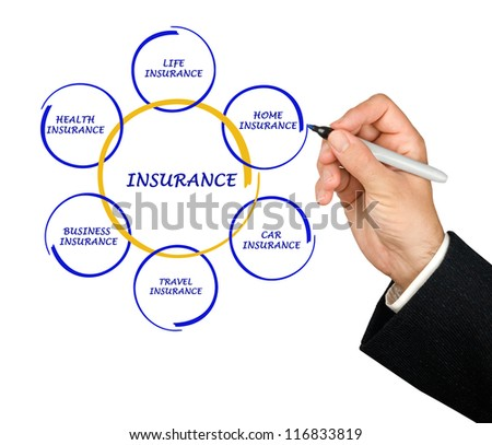 presenting insurance diagram - stock photo