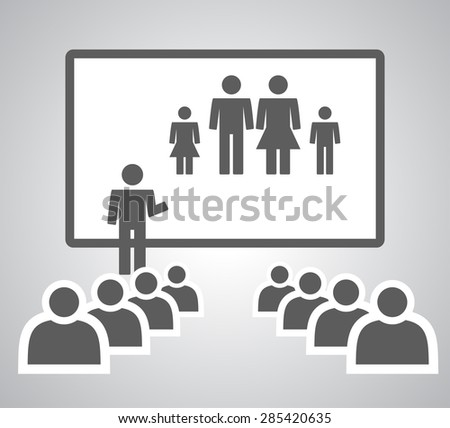 Presenting Mini Family - stock photo