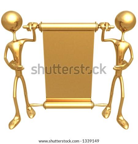 Presenting Scroll - stock photo
