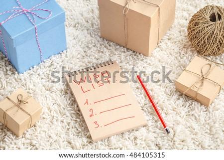 Wish List Images RoyaltyFree Images Vectors – Sample Christmas Wish List