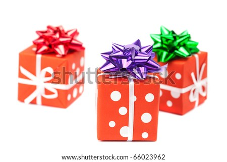 presents isolated on white - stock photo