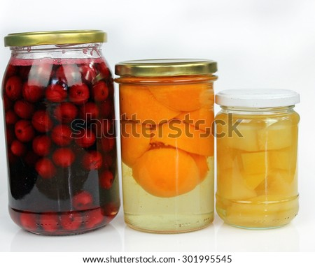 Preserves for the winter with a cherry and apricot