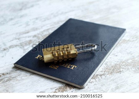 Preserving personal information  - stock photo