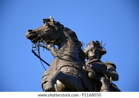 President and General George Washington Monument at Richmond, Virginia - stock photo