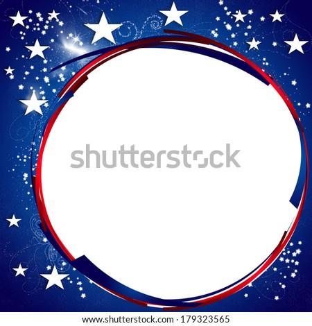 President Day - Star spangled Background