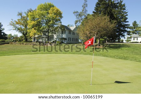 President Eisenhower's house and personal putting green - stock photo
