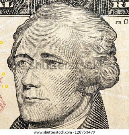 president hamilton on the ten dollar bill
