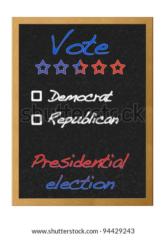 Presidential election 2012. - stock photo