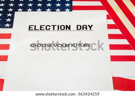 Presidential elections 2016 in USA. - stock photo