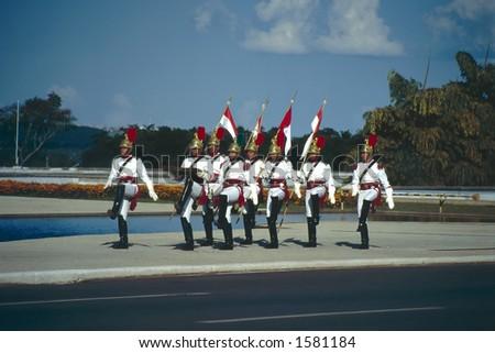 Presidential Guards - Brasilia, Brazil - stock photo