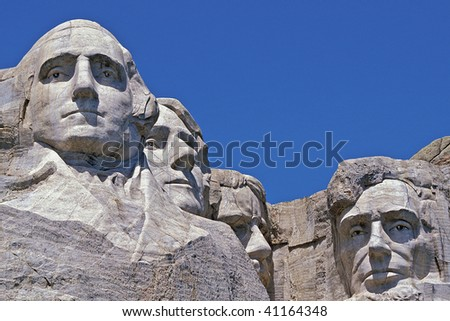 Presidential Heads of Mount Rushmore National Park in South Dakota - stock photo
