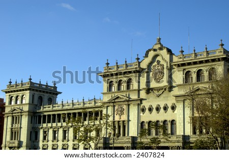 presidential palace guatemala city central america - stock photo