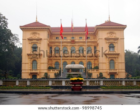 Presidential Palace - Hanoi, Vietnam - stock photo