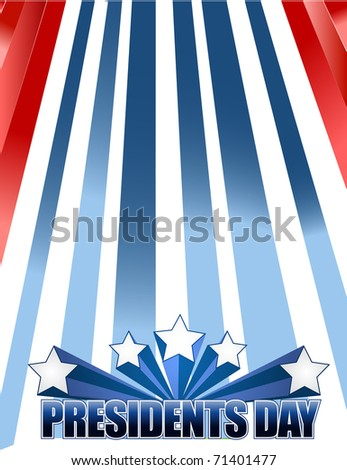 Presidents day background - stock photo