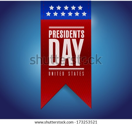 presidents day banner illustration design over a blue background - stock photo