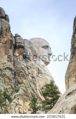 Presidents of Mount Rushmore National Monument, South Dakota, USA - stock photo