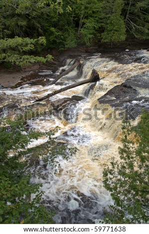Presque Isle River Porcupine Mountains Wilderness State Park, Michigan, USA - stock photo