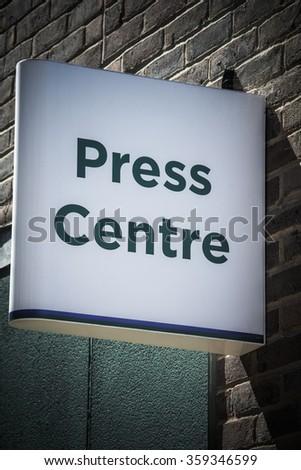 Press centre - stock photo